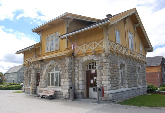 Skogn Station on Nordlandsbanen, in Levanger