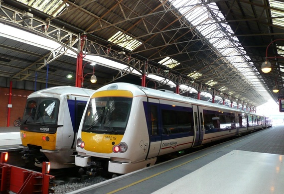 Class 165 and 168 trains seen at London Marylebone